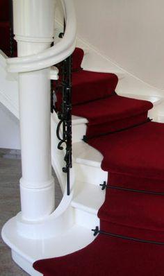 Bij een klassieke trap hoort klassiek tapijt