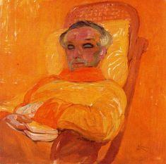 Frantisek Kupka (Czech, 1871-1957) - Self portrait, yellow spectrum, 1907