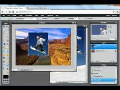 Pixlr Tutorial: Snowboarder Composite Image Types Of Shots, Desktop Publishing, School Photography, Art And Technology, Snowboarding, Grand Canyon, Composition, Blogging, Photo Editing