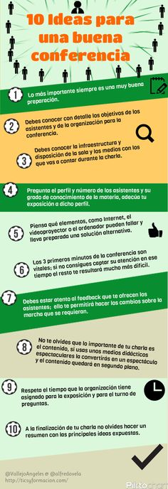 10 ideas para una buena conferencia....  (pinned by @jagtomas #ixu)