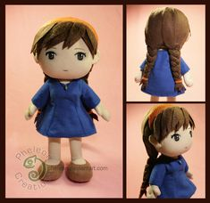 :: Crafty :: Cloth Doll :: 2 :: Sheeta from Castle in the Sky by pheleon