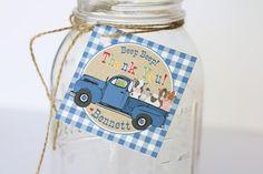 Little Blue Truck Party Décor & Ideas - Little Blue Truck Favor Tags or Stickers