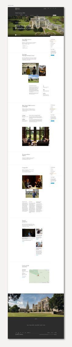 Hult International Business School digital rebrand.May to September 2015 - https://www.behance.net/gallery/27793141/Web-Hult-International-Business-School
