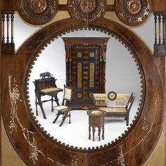 Framed in a pair of Carlo Bugatti doors, his furniture makes a wonderful piece of art in the camera of Michael Furman.