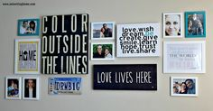 24 Simple Decor Projects we Love {Get Your DIY on Features} Wall Art Crafts, Diy Wall Art, Gallery Wall Frames, Gallery Walls, Touch Love, Picture Layouts, Inviting Home, Family Wall, Family Room