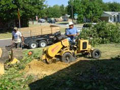 Stump grinding after tree removal http://www.leonstreeservice.biz/