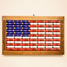 Show your pride with this 12 gauge American Flag Wall Art. Made from 91 genuine… Show your pride with this 12 gauge American Flag Wall Art. Made from 91 genuine… Arts And Crafts House, Home Crafts, Diy Crafts, Simple Crafts, Creative Crafts, Creative Ideas, Paper Crafts, Arts And Crafts Movement, Shotgun Shell Crafts