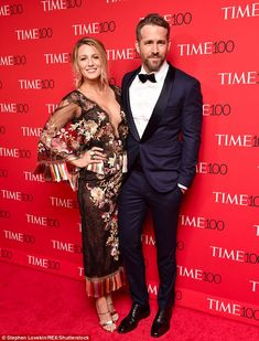 Arm candy: Ryan Reynolds brought his beloved Blake Lively along to the Time 100 Gala where he was honored among the world's 'most influential' in Manhattan on Tuesday