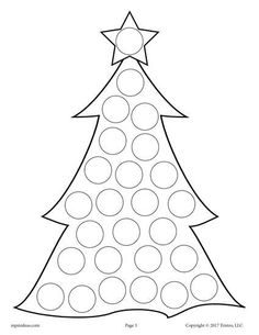 FREE Printable Christmas Tree Do-A-Dot Printable! Christmas dot coloring pages like this are perfect for toddlers and preschoolers to practice fine motor skills and more! Get all 10 Christmas Do A Dot Printables for FREE here --> https://www.mpmschoolsupplies.com/ideas/7871/10-free-christmas-do-a-dot-printables/