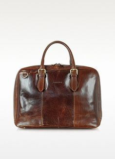 Brown Leather Briefcase by Chiarugi. Buy for $545 from Forzieri