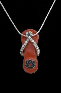 Auburn University Tigers Orange Flip-Flop Pendant Charm Medal College WITHOUT CHAIN-PENDANT ONLY Hail Mary Gifts, http://www.amazon.com/dp/B003YDKGDG/ref=cm_sw_r_pi_dp_LACaqb19YN1QR