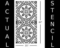 This stencil is a Moroccan-style tile pattern. Achieve the tile effect on floors and walls! Single tile stencils of nearly any size (to fit your actual tiles) can be purchased separately. SIZE: Stencil measures 21 x 42 inches. Comes with Registration Marks for simple repeat