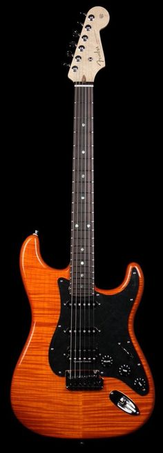 Fender Custom Shop 2011 Custom Deluxe Stratocaster Electric Guitar Sunset Orange Transparent
