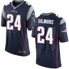 0b95bde4d Men s Nike New England Patriots  24 Stephon Gilmore Elite Navy Blue Team  Color NFL Jersey