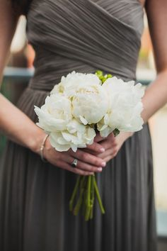 If you can't decide which color is right for your bouquet, maybe the answer is no color at all!