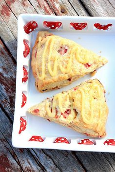 Strawberry Lemonade Scones recipe  The scones turned out flaky around the edges and tender throughout, with just the right touch of sweetness. The strawberry and lemon paired so well together.