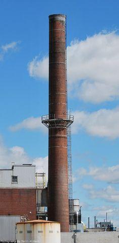 Chrysler plant old brick chimmney, in Kokomo, Indiana