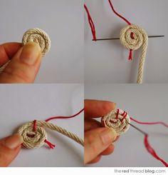 Basket Weaving Crochet Rug 49 Ideas For 2019 Rope Crafts, Yarn Crafts, Fabric Crafts, Sewing Crafts, Sewing Projects, Diy Crafts, Rope Basket, Basket Weaving, Making Baskets