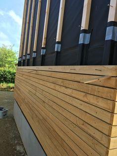 House Cladding, Timber Cladding, Backyard Studio, Backyard Sheds, Outdoor Garden Rooms, Outdoor Decor, Back Garden Landscaping, Container Homes Cost, Wood Facade