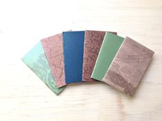 Notebook Favors: Notebooks, Stocking Stuffer, Purple, Teal, Muted, 6 Tiny Journals Set, Wedding Favors, Mini Journals, Small, Unique, Party on Etsy, £3.14