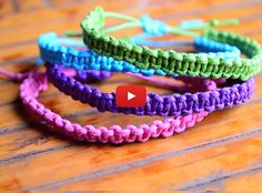 Make these awesome stackable bracelets for your BFF's!   Easy To Make Square Knot Bracelets   http://gwyl.io/easy-make-square-knot-bracelets/