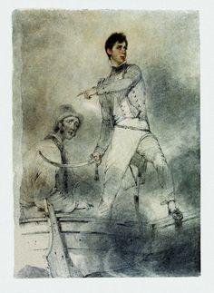 Captain Fleetwood Pellew commanding H.M. Ship Terpsichore against Dutch vessels in Batavia Roads 24 Nov. 1806. Drawn at Madras, May 1807 - National Maritime Museum