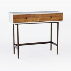 Reclaimed Wood + Lacquer Console | west elm