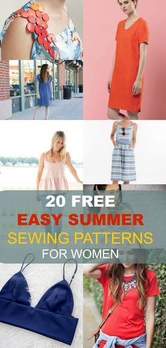 FREE SEWING PATTERNS: 20 Easy Summer Patterns for Women: Get access to 20 free sewing patterns for women. Ideal sewing patterns for beginners, easy to make