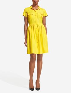 Short-Sleeve Shirtdress | Women's Dresses | THE LIMITED