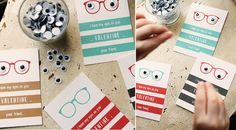 I only have my {googly} eyes on you valentines...perfect for boy Valentine's