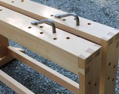 """I've had a few questions about the saw bench I've been using. It was one of the earlier projects with my instructor. I remember him suggesting I try one practice dovetail (as this project would require my first ever dovetail). Upon cutting each piece and attempting to fit them I asked him """"it's pretty close should I try hitting it with a mallet to seat it all the way?"""" He said """"sure give it a try and see what happens."""" Of course it exploded and sent a pin flying. Then he explained that the…"""