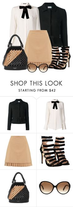 """""""Untitled #1350"""" by gallant81 ❤ liked on Polyvore featuring RED Valentino, Alexander McQueen, Jigsaw, Sonia Rykiel and Tod's"""