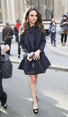 Mila Kunis - Arrivals at Miu Miu Fashion Show