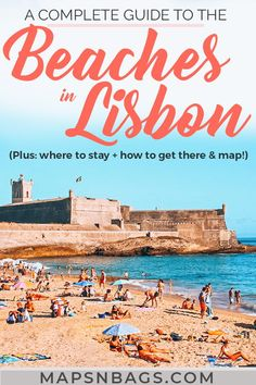 Check out the best beaches in Lisbon, Portugal! Weve created an ultimate guide with all practical information you need for the summer: beautiful photography, things to do in many beaches including Cascais, tips for adventure seekers ( aka the best surfing spots Europe!), and a map! Read more! Best beaches in Lisbon | best beaches near Lisbon | Beaches in Setubal | Beaches in Portugal | Summer in Lisbon #Lisbon#beaches #guide #Portugal #Europe#Summer #Mapsnbags