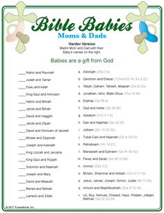 Bible Babies Moms & Dads