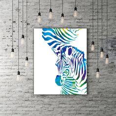 Zebra Art, Animal Artwork, Colorful Painting Abstract, Safari Wall Art, Zebra Print Decor, Watercolor Abstract Animal Art, Safari Printable by PRINTANDPROUD on Etsy