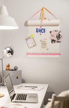 Notitie rol van IKEA! Gemakkelijk te personaliseren door gebruik van tape, stickers en foto's of kaarten!