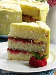 Lemon Raspberry Cake > Willow Bird Baking