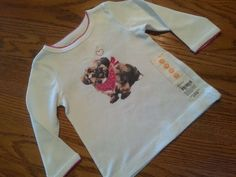 New Carter's Baby Girl Cute Puppy Shirt Top Sz 12M NWT Cotton Everyday #Carters #Everyday