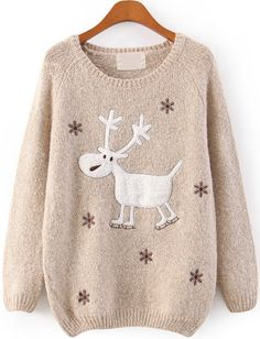 To find out about the Grey Raglan Sleeve Embroidery Snowflake and Deer Jumper at SHEIN, part of our latest Sweaters ready to shop online today! Christmas Tops, Christmas Jumpers, Christmas Fashion, Ugly Christmas Sweater, Christmas Deer, Holiday Sweaters, Reindeer Sweater, Christmas Clothes, Christmas Shirts