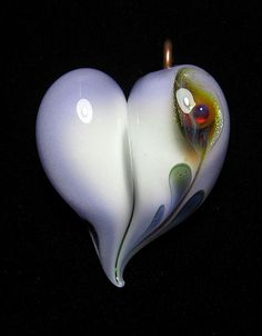 Beautiful glass heart by Brent Graber.