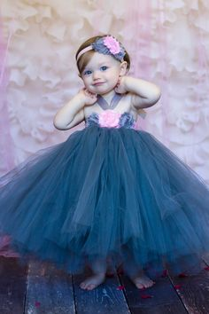Flower girl dress and headband set...Pink by TutullyCuteDesigns, $75.00