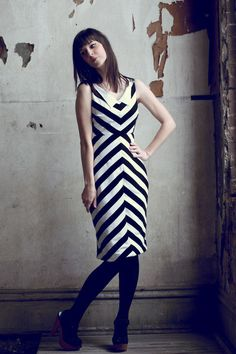 Why do black and white striped dresses have to be so cute?