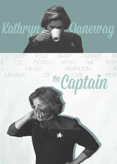 Kathryn Janeway, the Captain #startrek #voyager