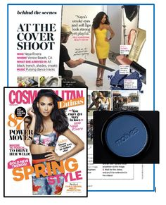 Motives Pressed Eye Shadow in Twilight was featured on the cover of Cosmo Latina on the gorgeous Naya Rivera of Glee; the cover girl for their sultry spring 2014 cover.