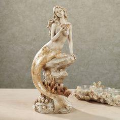 Moonlight Mermaid Sculpture Ivory, Touch of Class Siren Mermaid, Mermaid Diy, Vintage Mermaid, Mermaid Dolls, Mermaid Home Decor, Mermaid Bedroom, Mermaid Sculpture, Sculpture Clay, Mermaid Statue