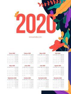 Creative Calendar, Calendar Design, Calendario Editable, Calendar 2020, Coreldraw, Tool Design, Free Printables, Journal, Graphic Design