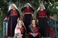 Christian Palestinian women.  Aren't they beautiful…man, those ladies would boss you up one side and down the other!  :)