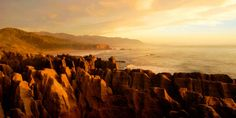 """""""The """"Pancake Rocks"""" of Punakaiki on the West Coast of NZ's South Island--really wanted to climb all over them too bad it wasn't an option. DEF worth seeing though!"""