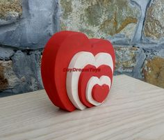 Free shipping Wooden Heart Puzzle Gift to the Valentine's day Wood puzzle by DayDreamToys on Etsy